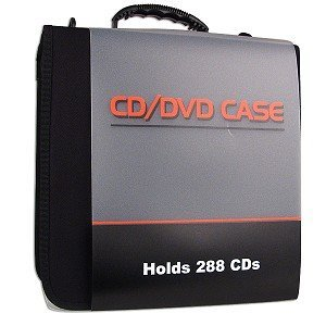 CD/DVD Vinyl Carrying Case -Black-288-Disc