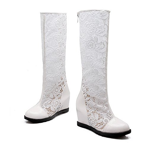 pour à tissu compensés en AdeeSu confort Bottes talons mode plateforme blanc femmes SXC01843 zwqg5Ey