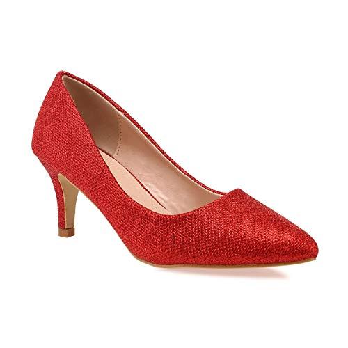 Vestir 44uqhpewp Sintético Rojo Mujer De Modeuse Zapatos La 53549 wXnx58