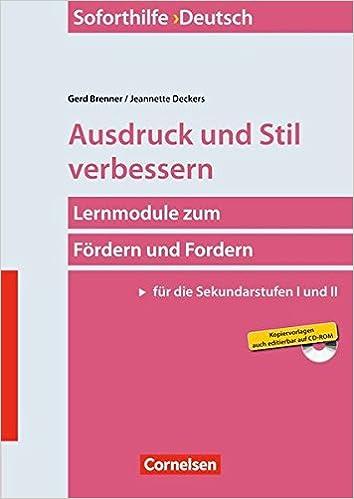 Soforthilfe Deutsch Ausdruck Und Stil Verbessern 6