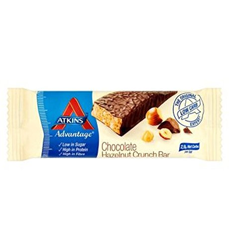 Atkins Advantage Chocolate Hazlenut Crunch Bar With Sweetener - 60 G - Pack of 2