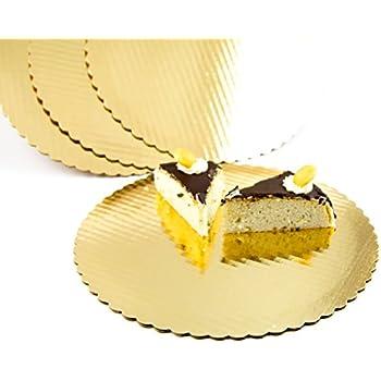 Chefible Premium Gold Cake Circles, Corrugated, Cake Board, 12 Inch Diameter, Pack of 10