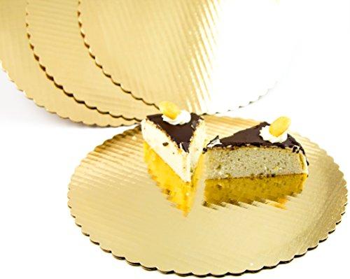 Chefible Premium Gold Cake Circles, Corrugated, Cake Board,