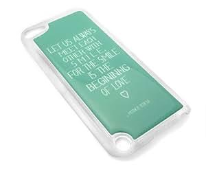 Cita De Madre Teresa Love Turquesa Fijación Cubierta de iPod Touch 5/5th generación transparente funda de transporte