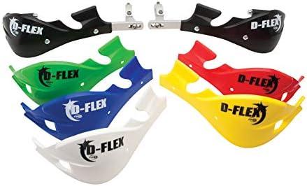 Tusk D Flex Handguards Red Motorcycle Dirt Bike Hand Guards Bash Gaurds