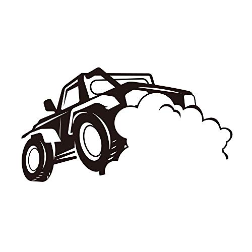 Home Find Car Wall Decals Drag Racing Wall Decals Cool Race Car Silhouette Wall Decals Removable Stickers DIY Art Murals Nursery Kids Rooms Children Gifts 27.6 inches x 15 inches