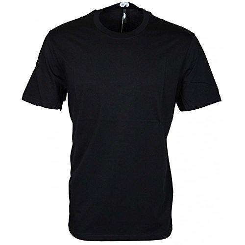 Versace Versus BU90432 Plain Black Extra Long T-Shirt S Black
