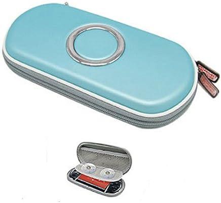 Funda Rígida para Sony PSP 1000, PSP 2000, PSP Slim & Lite Color AZUL con compartimentos interiores y mosquetón: Amazon.es: Electrónica