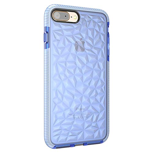 (iPhone 6 6S Case,3D Geometric Diamond Pattern Textured Flexible Shockproof Soft Clear Protective Back Cover for Apple iPhone 6/6S 4.7 Inch)