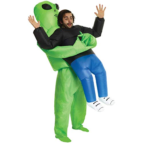 Alien Pick Me Up Inflatable Blow Up Costume - One size fits most -