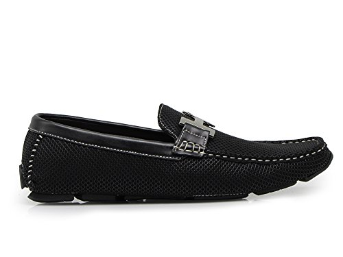 Slip Casual Romeo Shoes Driving Weight Loafer Enzo Men's On Light Moccasins Black Payne04 g8xWZUOF