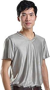 LVFEIER EMF Radiation Shield Men T-Shirt V-Neck
