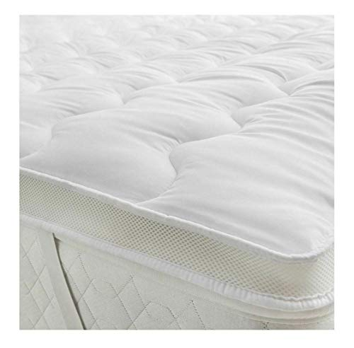 Ma Online 5cm Thick Microfiber Mattress Topper With Hollow Fiber Filling Air Flow Control Mattress Toppers 4ft Double
