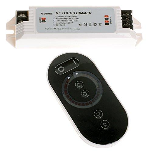 Funkferngesteuerte LED Kontrolleur Dimmer Regler mit Berührungsempfindlicher Fernbedienung für LED Einstellbarer Farbtemperatur Leuchtbänder Helligkeit Kaltes Weiß Warmes Weiß Verstellbar