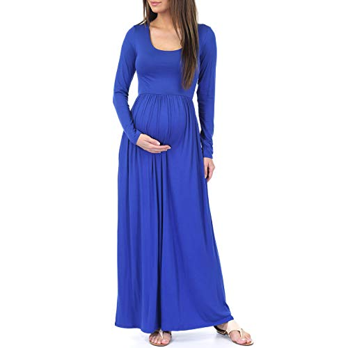 Mother Bee Maternity Long Sleeve Womens Ruched Dress with Pockets by Rags and ()