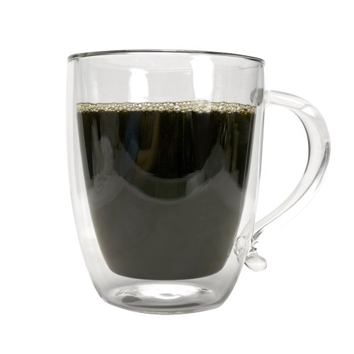 Primula Double Wall Borocilicate 16-Ounce Glass Coffee Mug