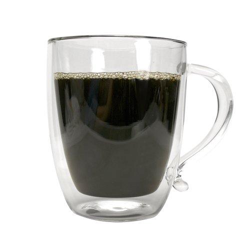 Primula Double Wall Borocilicate 16-Ounce Glass Coffee Mug ()