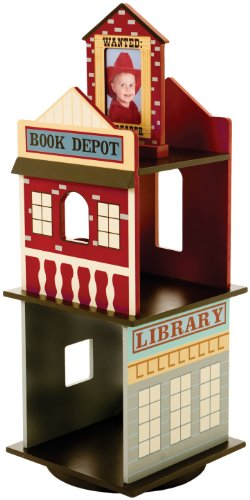 Levels of Discovery Wild West Revolving Bookcase Multi-color
