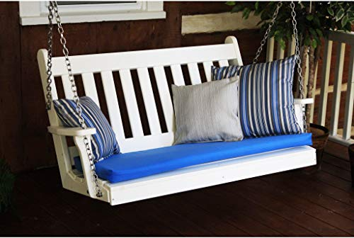 A&L Furniture Traditional English Recycled Plastic 5ft Porch Swing