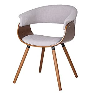 Mid Century Modern Styling Bent Wood Accent Chair With The