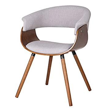 Mid Century Modern Styling Bent Wood Accent Chair With The Curved Back And  Seat.