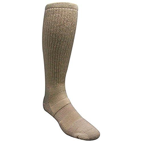Desert Climate Military Boot Sock (Sand, 4-8)