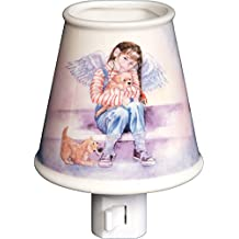 Angelstar 4-1/4-Inch Angel Porcelain Night Light, Nurturing
