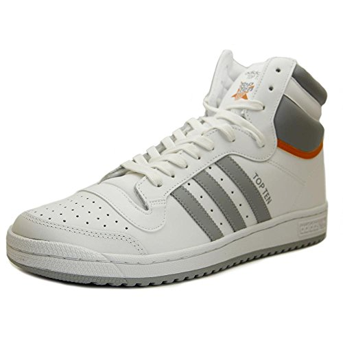 timeless design 83958 2932a Galleon - Adidas Originals Men s Top Ten HI Fashion Sneaker, White Clear Grey  Tactile Orange S, 8.5 M US