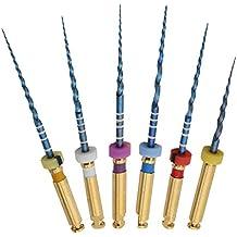 Dorit Hope 6Pcs Endodontic Blue Niti Rotary File SX-F3 25mm Dental Universal Pre-Curved Root Canal File