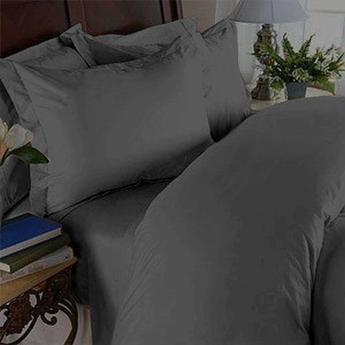 Elegant Comfort Microfiber Full/Queen Luxurious Wrinkle-Free and Fade Resistant 3-Piece Duvet Cover Set, Gray E<>L 15 DC- Q-Grey