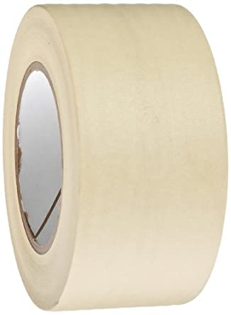 "High Temperature Masking Tape Roll, 3"" Core, 325 Degree F Performance Temperature, 7.7 mil Thick, 60 yds Length x 2-1/2"" Width, Natural"