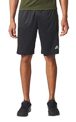 adidas Mens Performance Glitch Panel Climalite Gym Athletic/Workout Shorts (Black, Large) Adult Jacquard Soccer Shorts