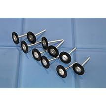 "TEMO 10 pc Nylon Plastic Bristle FLAT Wire Brush #403 1/8"" shank fit Dremel 5D1"