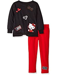 Hello Kitty girls Legging Set With 3d Appliques Embroidery and Screen Print Details