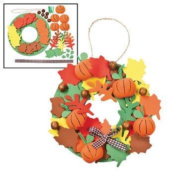 3D Pumpkin Wreath Craft Kit - Crafts for Kids & Decoration Crafts (12 (Crafts Halloween Decorations)