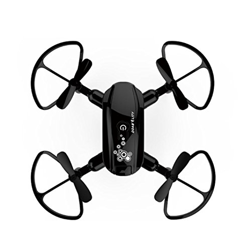 Inverlee Mini D10WH Foldable With Wifi FPV HD Camera 2.4G 6-Axis RC Quadcopter Drone Toys (Black) by Inverlee