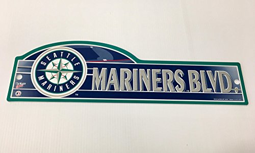 Seattle Mariners Hanging (NHL Seattle Mariners 4 x 17 inch Plastic Street Sign)