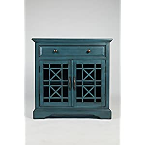 Jofran: 175-32, Craftsman, Accent Chest, 32″W X 15″D X 32″H, Antique Blue Finish, (Set of 1)