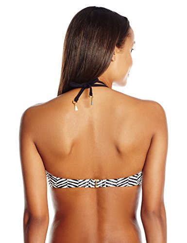 Trina Turk Women's Brasilia High Neck Bra Bikini Top, Multi, 4