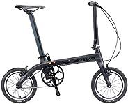 Folding Bike Carbon Fiber, SAVADECK 14 inch Carbon Fiber Frame Portable Folding Bikes Mini Fixed Gear City Fol