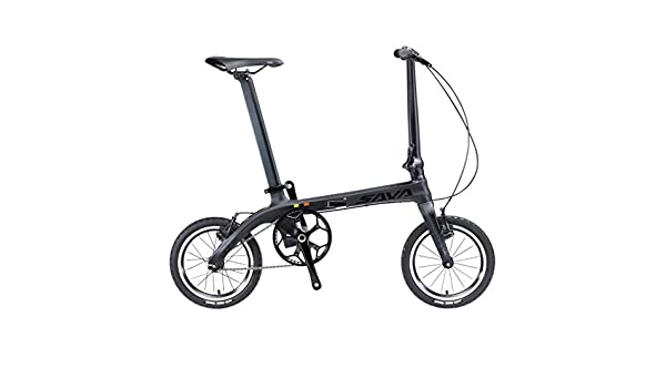 savadeck 14 pulgadas bicicletas plegables de fibra de carbono marco Fixed Gear Single Speed Fixie städ Mesas Track Bike Mini Ciudad Bicicleta plegable con ...