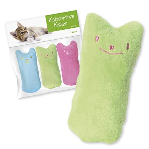 Forck Katzenminze Kissen (3 Stück), Knuddelkissen | Schmusekissen mit extra viel natürlichem Catnip zum Kuscheln und…