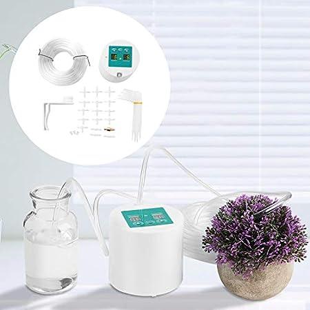 Micro automático Jardín Kits de riego por goteo Sistema de temporizador Kit de riego automático Balcón Oficina para flores Plantas Bonsai Frutas en maceta