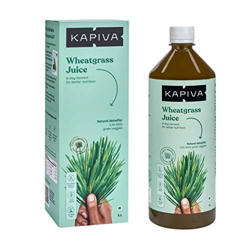 Kapiva Wheatgrass Juice 1L | Ayurvedic Juice for Detoxification | High Chlorophyll, 8th day harvested Wheatgrass | No…