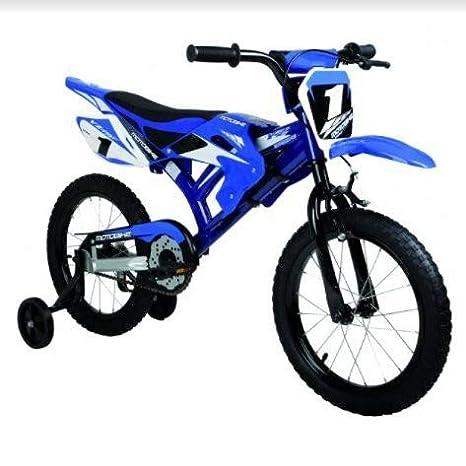 Bicicletta Bambino Modello Motorbike Con Rotelle Ruota 16