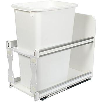 knape u0026 vogt usc12150wh incabinet soft close pull out trash