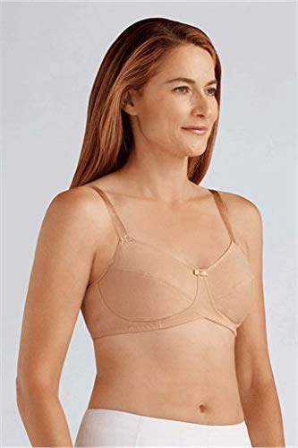 Amoena Women's Ruth Cotton Wire-Free Bra, Nude, 46A