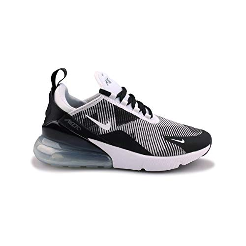 low priced d172f 54094 Galleon - NIKE Kids  Grade School Air Max 270 Knit Jacquard Shoes (3.5,  Black White Grey)