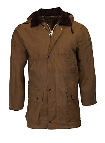 Walker & Hawkes - Mens Unpadded Wax Jacket Countrywear Hunting Waxed Coat - Beige - 5X-Large