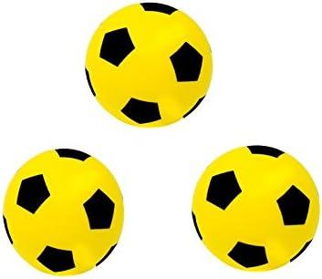 E-Deals Pack de 3 pelotas de espuma amarillas de 17,5 cm para interiores y exteriores, pelota de fútbol de espuma suave, gran diversión para adultos, niños y niñas: Amazon.es: Deportes y aire